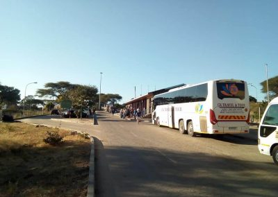48 Seater Scania Bus at Bus Stop