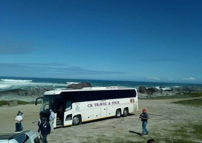 48 Seater Scania Bus on The Beach