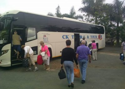48 seater Scania Bus loading tourists